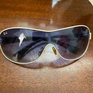 Ray-Ban RB3471 White Metal Unisex Sunglasses